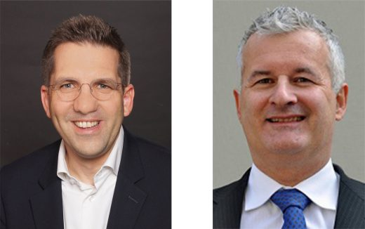 gauche: Paul Monn, CEO de Business Broker SA | droit: Alexander Cassani, responsable Corporate Finance Raiffeisen