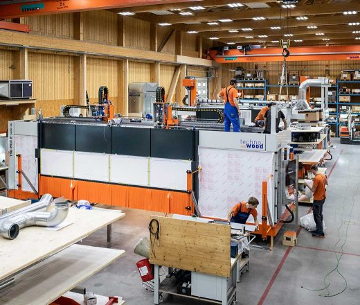 La halle de production de TechnoWood AG