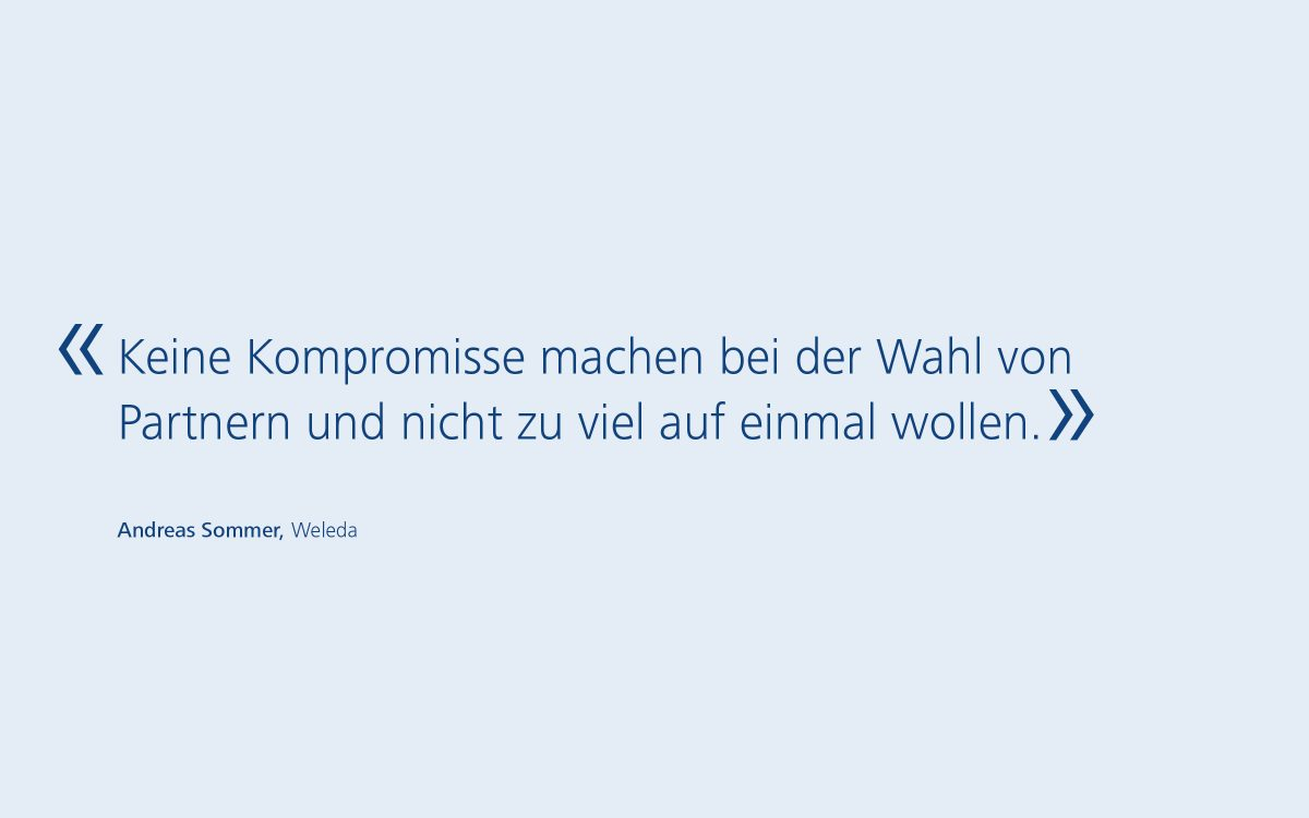 Andreas Sommer, Weleda