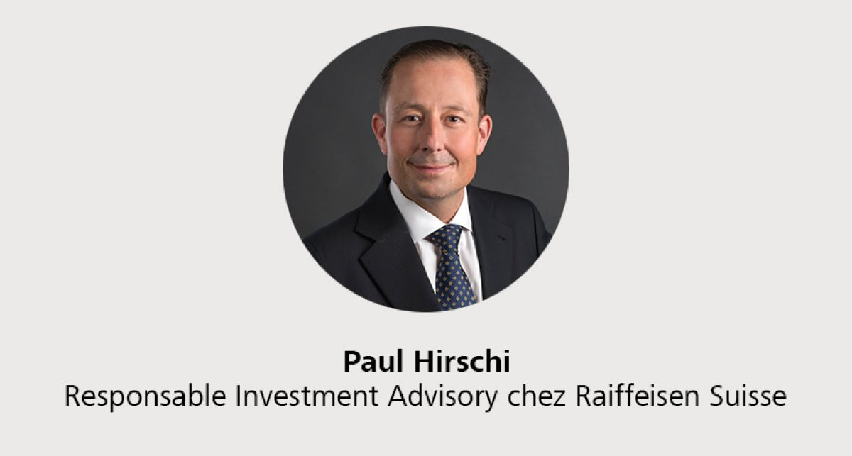 Paul Hirschi - Responsable Investment Advisory chez Raiffeisen Suisse