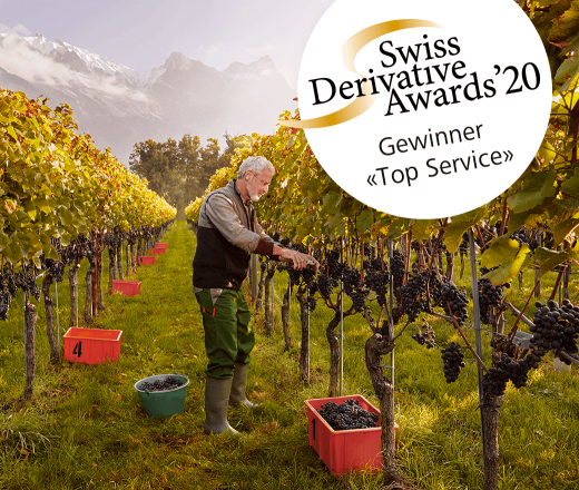 Raiffeisen gewinnt Swiss Derivative Awards 2020 in der Kategorie «Top Service»