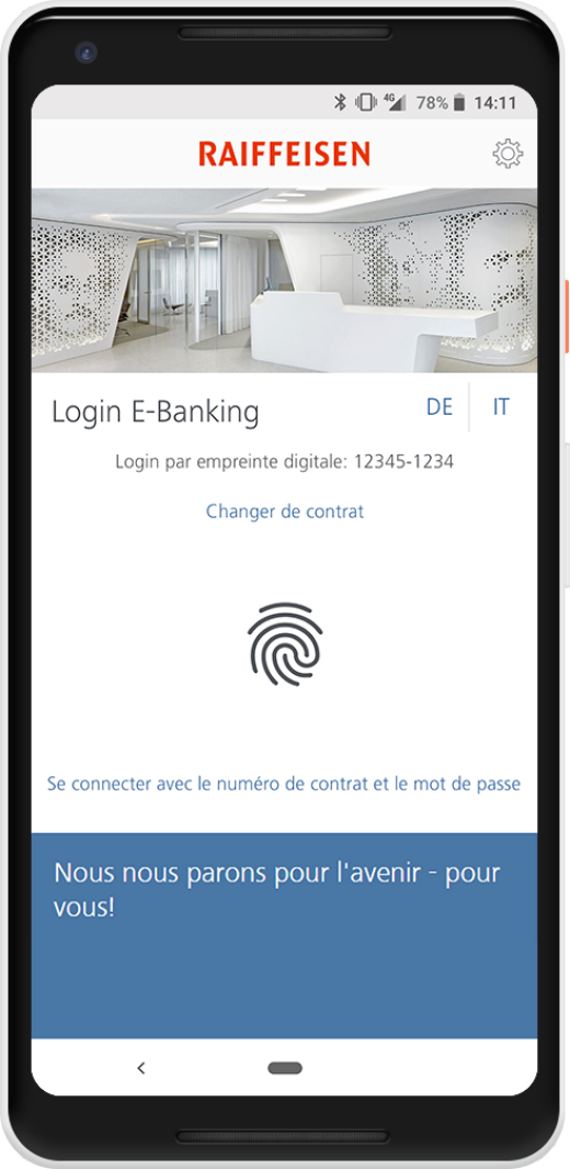 Login par empreinte digitale